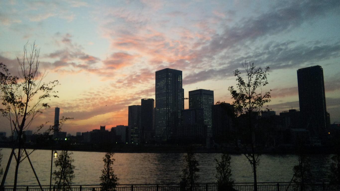 豊洲からの夕景